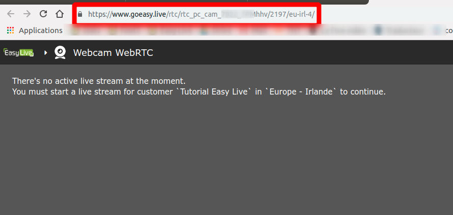 Mobile WebRTC Input | Easy Live | Your all-in-one live streaming